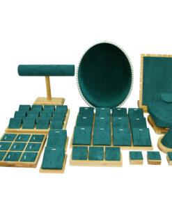 竹木首飾陳列展示架收納道具