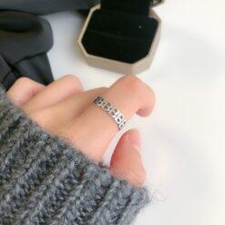 [925純銀]簡約大氣字母b戒指