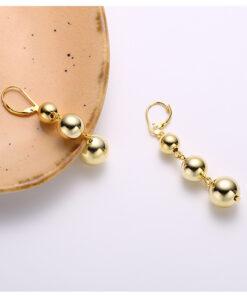 [925純銀]簡約三顆圓珠耳扣耳環