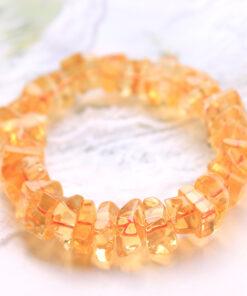 [黃水晶]時尚單圈手鍊