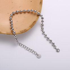 [925純銀]簡約圓珠鍊條手鍊