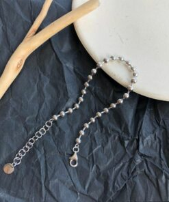 [925純銀]光面圓珠手鍊