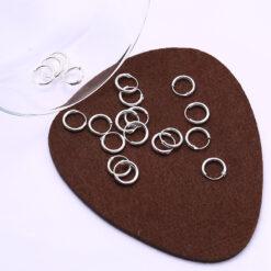 [925純銀]開口圓環耳扣