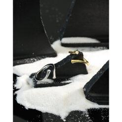 [925純銀]簡約錯邊交叉戒指