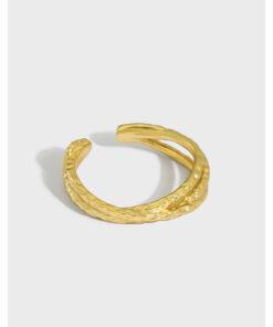 [925純銀]小眾紋理質感戒指