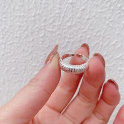 [925純銀]復古開口設計多層時尚齒輪戒指