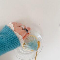 [925純銀]小眾設計滴釉戒指