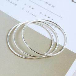[925純銀]時尚細圈多環手鐲