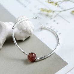 [925純銀]清新草莓晶手鏈