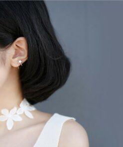 [925純銀]創意五角星耳釘