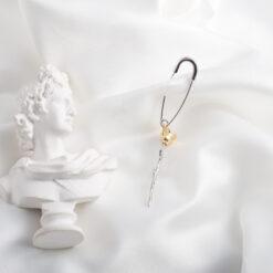 [925純銀]玫瑰花別針耳環