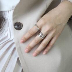 [925純銀]莫比烏斯扭紋戒指