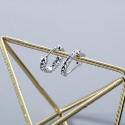 [925純銀]復古做舊鏈條耳扣