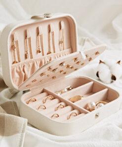 簡約少女耳環項鏈首饰盒