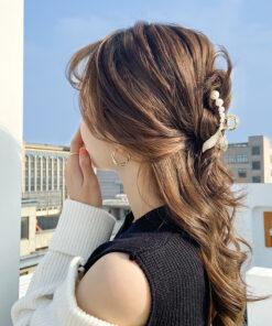氣質金屬珍珠髮夾