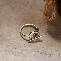 [925純銀]時尚百搭圓圈鏤空鏈條戒指