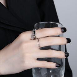 [銅]多層鏈條滴膠戒指