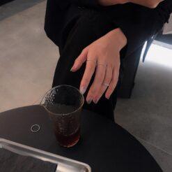 [925純銀]簡約開口小圓珠細戒指