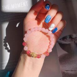 [粉水晶]清新設計手鍊