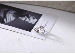 [925純銀]異形開口不規則鏤空錫紙紋理戒指