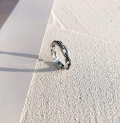 [銅]復古鏈條麻繩戒指