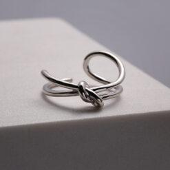[925純銀]簡約冷淡風打結戒指