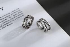 [銅]多層交叉流蘇戒指
