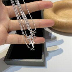 [925純銀]十字架閃珠項鏈