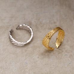 [925純銀]個性翅膀戒指