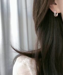 [925純銀]極簡小清新耳環