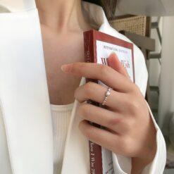 [925純銀]luck愛心小巧精緻戒指