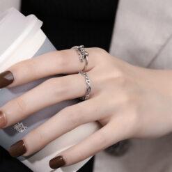 [銅]復古垂鏈戒指
