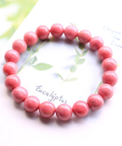 [薔薇輝石]玉化桃紅手鍊