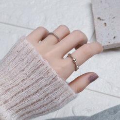 [銅]復古波浪戒指