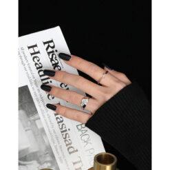 [925純銀]極簡紐紋細戒指