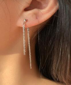 [925銀]氣質閃光鏈耳環
