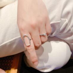 [925純銀]誇張鏤空寬面戒指