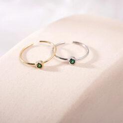 [925純銀]單鉆細圈戒指