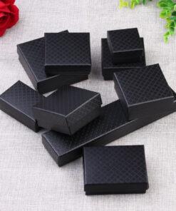 黑色鉆石紋飾品收納盒