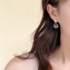 [925銀針]甜美花朵耳環