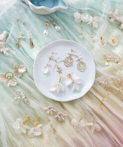 [鋼針]百搭海星貝殼珍珠耳環