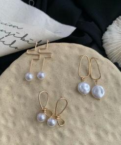 [鋼針]氣質流蘇珍珠耳環