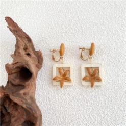[鋼針]森系彼岸花朵耳環