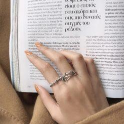 [925純銀]簡約小圈圈戒指