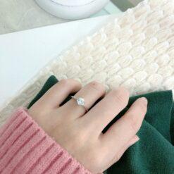 [925純銀]简约单钻婚戒