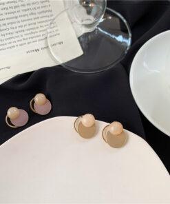 [鋼針]復古滴油幾何耳環
