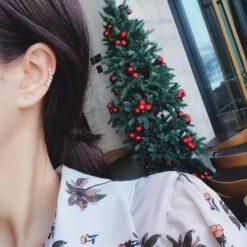[耳骨夾]簡約一字珍珠耳夾
