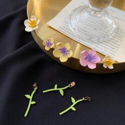 [鋼針]小清新花朵耳環