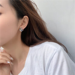 [鋼針]復古彩繪愛心耳環