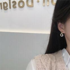 [925銀針]簡約個性圓形耳釘